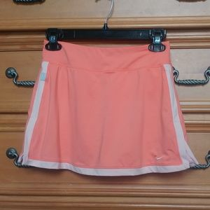 Nike Orange Tennis Athletic Skirt Small